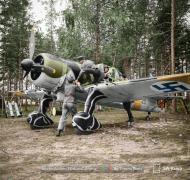Asisbiz Fokker D XXI FAF 2.LeLv30 FR145 Tiiksjarvi Finland July 1941 color 01