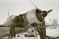 Asisbiz Fokker D XXI FAF 3.LeLv30 FR14x maintenance work minus 26 Tiiksjarvi Airport 1st Nov 1941 02