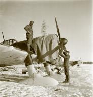 Asisbiz Fokker D XXI FAF 3.LeLv30 fitted with snow skis for winter landings Tiiksjarvi Airport 4th Nov 1941 62471