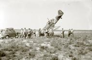 Asisbiz Fokker D XXI FAF FR116 landing mishap at Utti 8th Sep 1941 23724