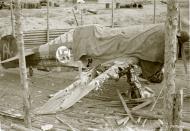 Asisbiz Fokker D XXI FAF FR144 Yellow A bomb damaged at Tiiksjarvi 4th Aug 1942 102873
