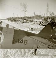 Asisbiz Fokker D XXI FAF FR148 fitted with snow skis for winter landings Tiiksjarvi Airport 4th Nov 1941 62474