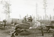Asisbiz Fokker D XXI FAF FR156 at Tiiksjarvi Karelia 25th Sep 1941 51371