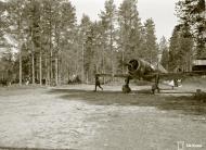Asisbiz Fokker D XXI FAF LeLv12 FR98 at Nurmoila 24th Apr 1942 01