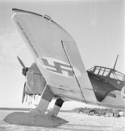 Asisbiz Fokker D XXI FAF fitted with snow skis for winter landings Tiiksjarvi Airport 4th Nov 1941 62475