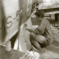 Asisbiz Morane Saulnier MS 406 FAF MS6 being repaired at Vartsila Finland 1st Aug 1944 159367