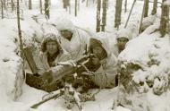 Asisbiz Finnish Maxim M32 machine gun nest firing on a Soviet positions 5km N of Lemeti area 21st Jan 1940 3534