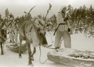Asisbiz Finnish forcs moving forward with their reindeer Janiskoski area Winter War 20th Feb 1940 5142
