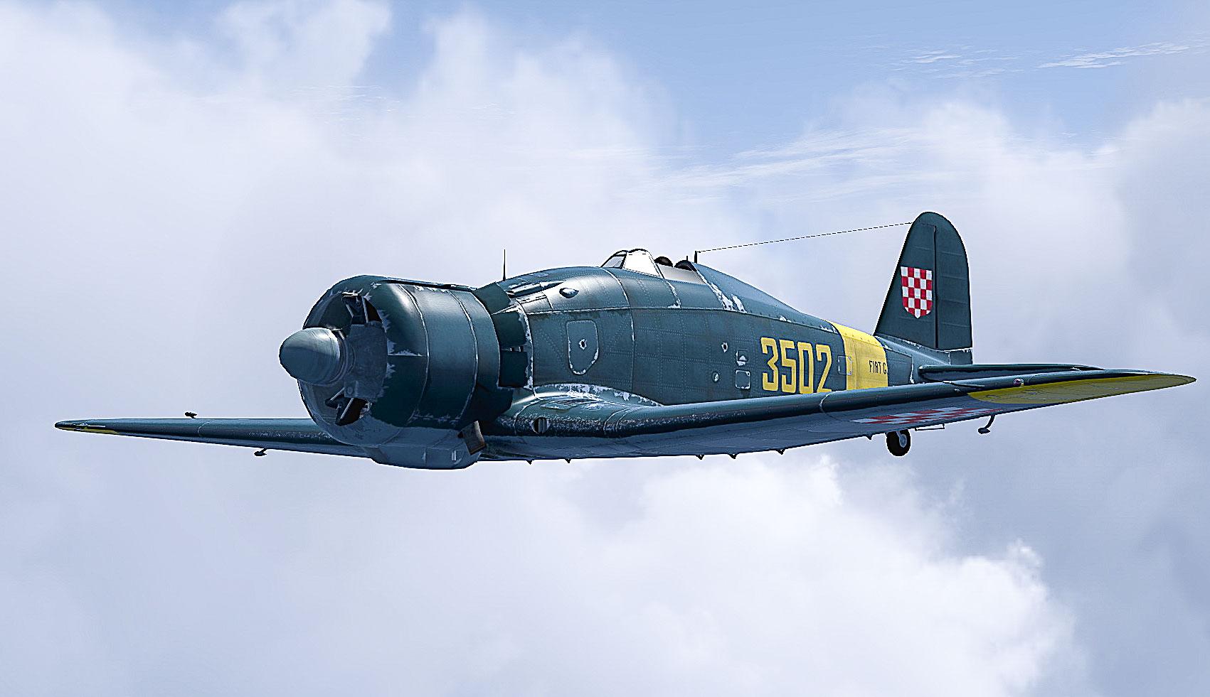 My weekend so far: FIAT G.50 COD-asisbiz-Fiat-G50-Freccia-Croatian-AF-ZNDH-12-Squadron-No-3502-Croatia-1942-V03