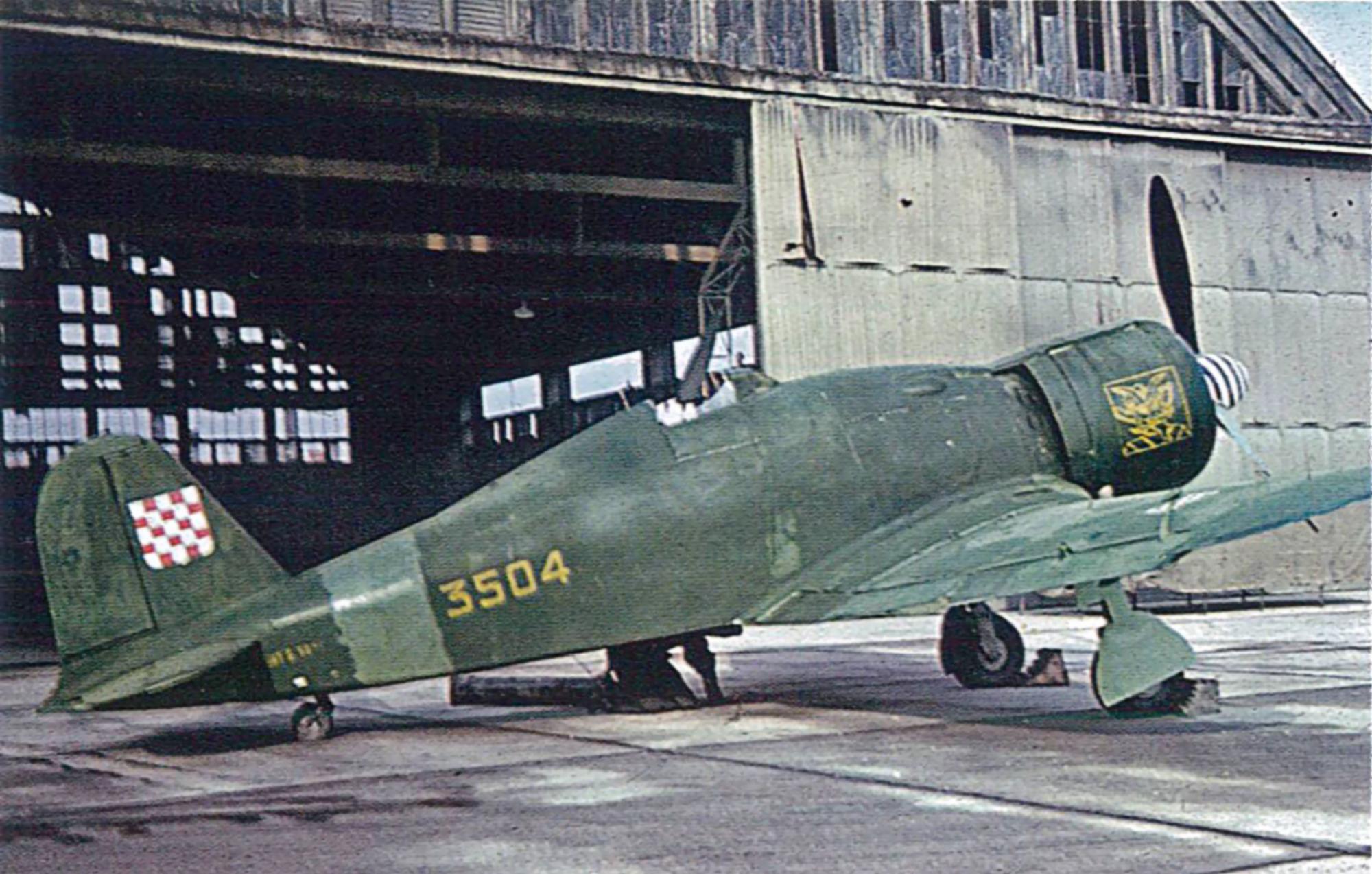Fiat G50 Freccia Croatian AF 3504 Aug 1944 01
