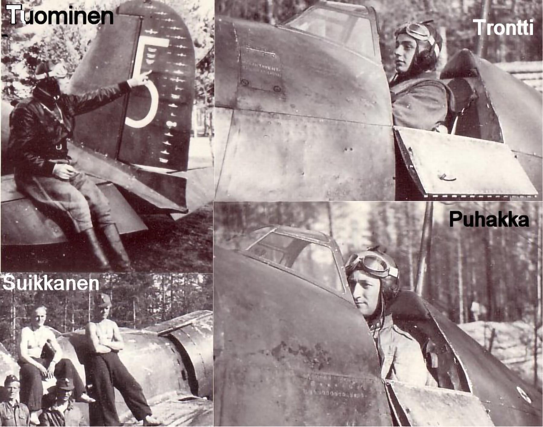 Aircrew FAF ace Lentomestari Tuominen Fiat G50 Freccia FAF 1.LeLv26 Finland 1941 01
