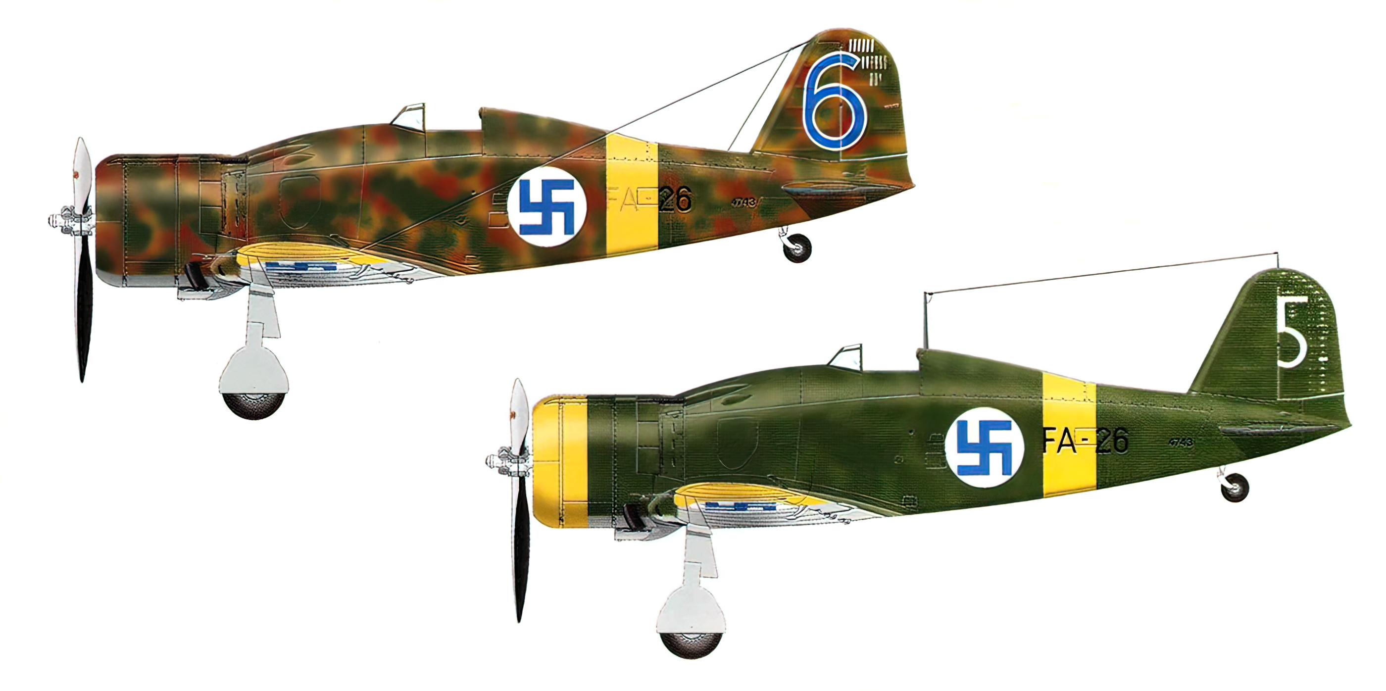 Fiat G50 Freccia FAF 1.LeLv26 FA26 MM4743 Oiva Tuominen Lunkula Aug 1941 0A