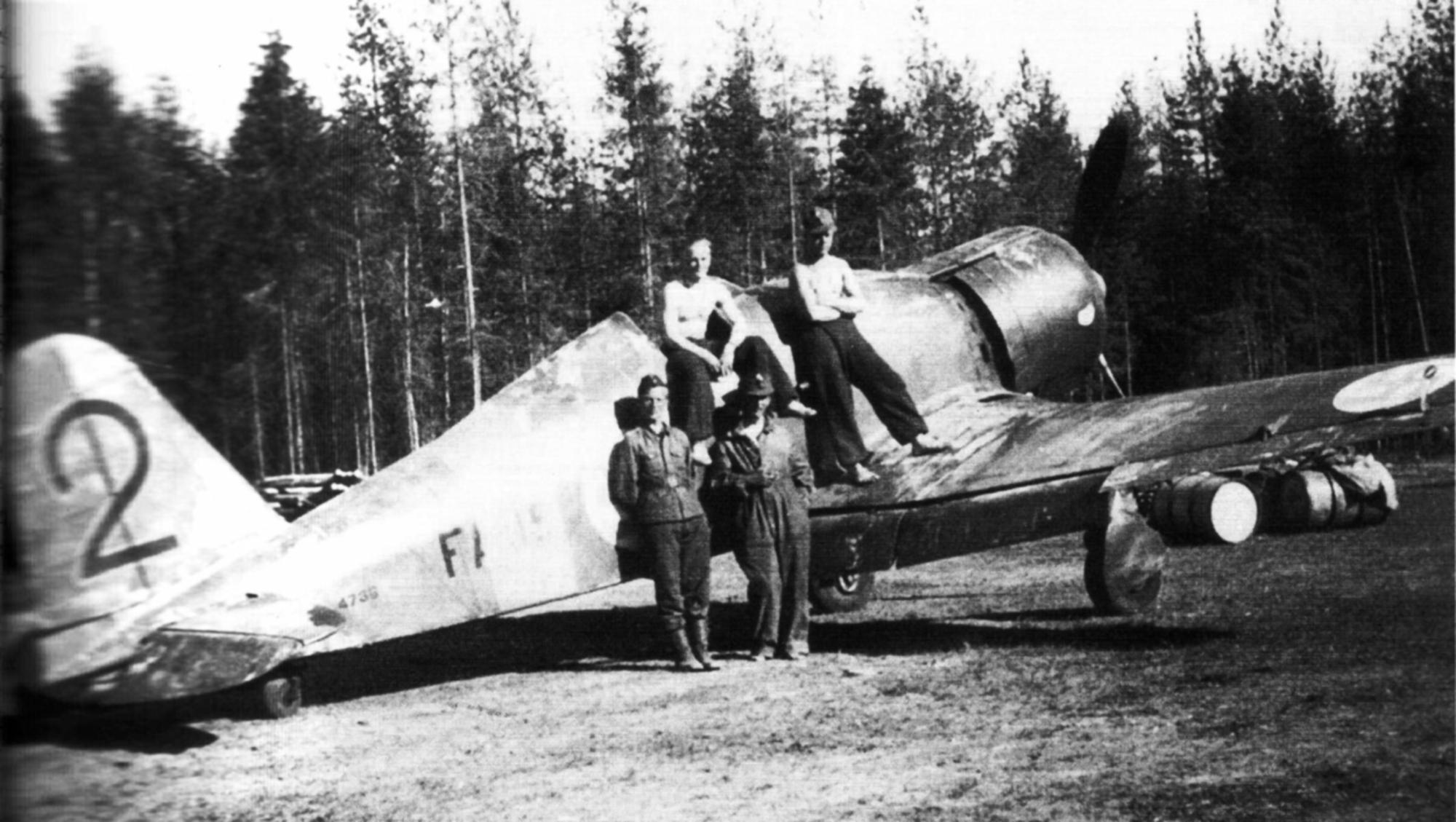 Fiat G50 Freccia FAF 2.LeLv26 FA15 MM4736 Urho Nieminen Rantasalmi AF 28th Jun 1941 01
