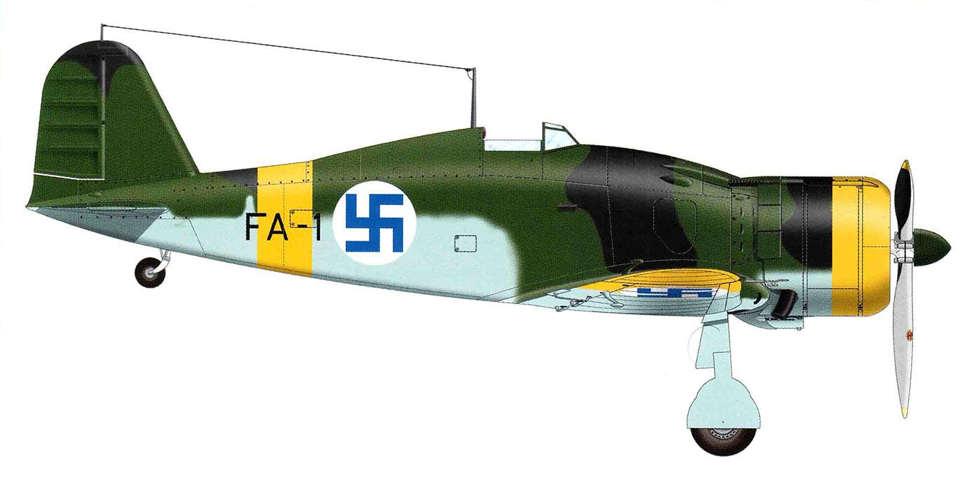 Fiat G50 Freccia FAF 3.LeLv26 FA1 MM4738 Vanrikki Silvannoinen Kilpasilta Finland Mar 1943