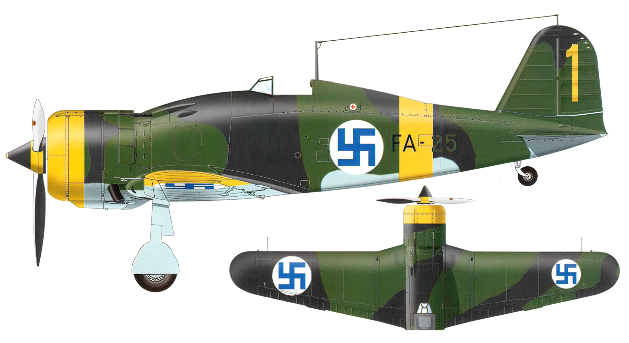 Fiat G50 Freccia FAF 3.LeLv26 FA25 MM3614 Olli Puhakka Kilpasilta Oct 1942 0A