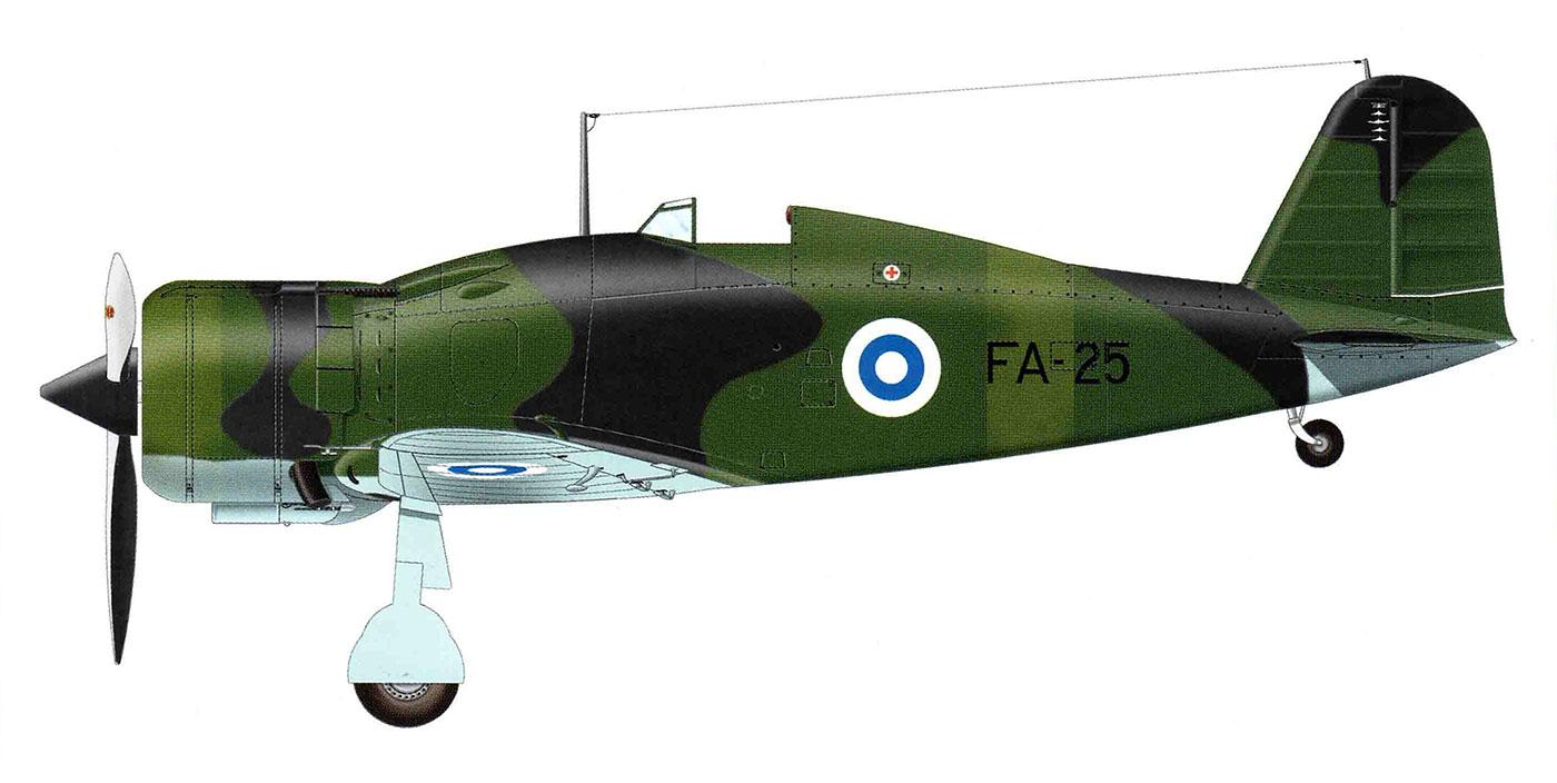 Fiat G50 Freccia FAF Lentosotakoulu FA25 MM3614 P Jurva Kauhava Finland Oct 1945