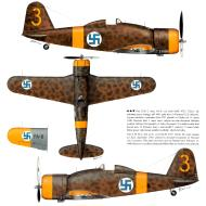 Asisbiz Fiat G50 Freccia FAF 3.LeLv26 FA6 MM4727 Onni Paronen Lake Ladoga AB Sep 1941 Revi 28 P26