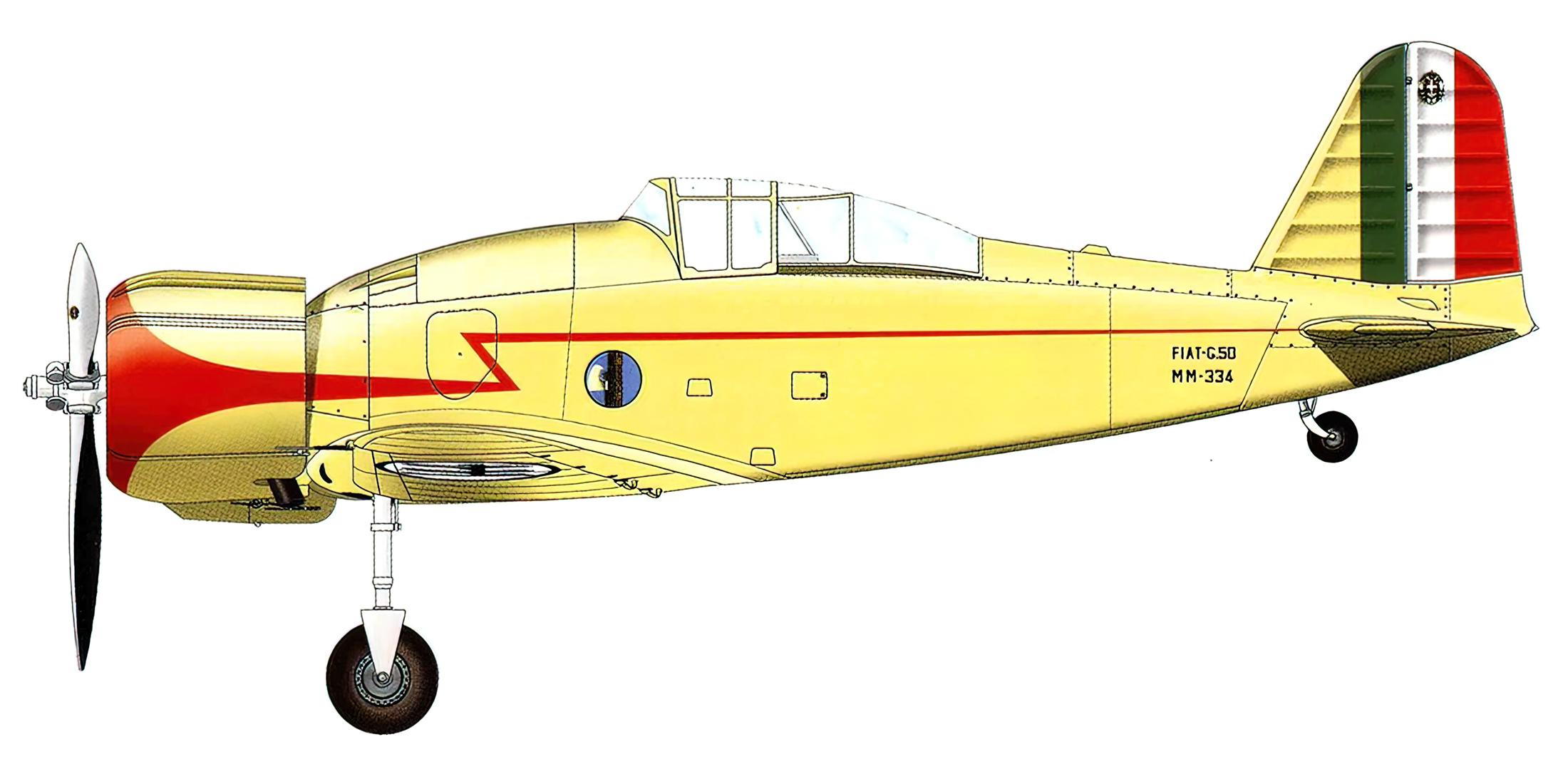 Fiat G50 Freccia prototype MM334 flown by test pilot Giovanni De Briganti Turin Italy 26th Feb 1937 0A