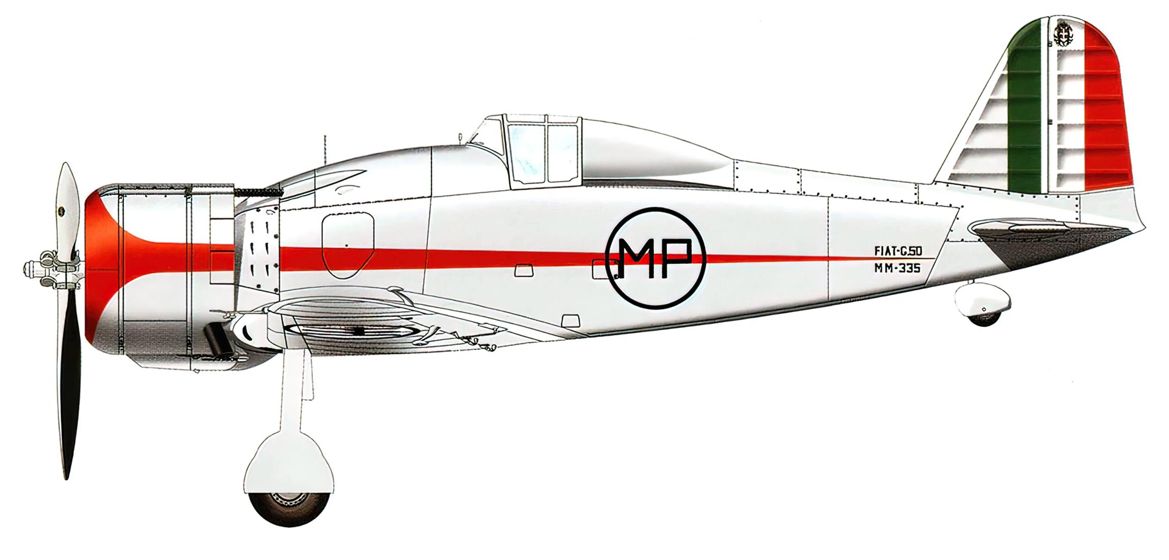 Fiat G50 Freccia prototype MM335 Stabilmento Costruzioni Aeronautiche Guidonia Italy Sep 1938 0A