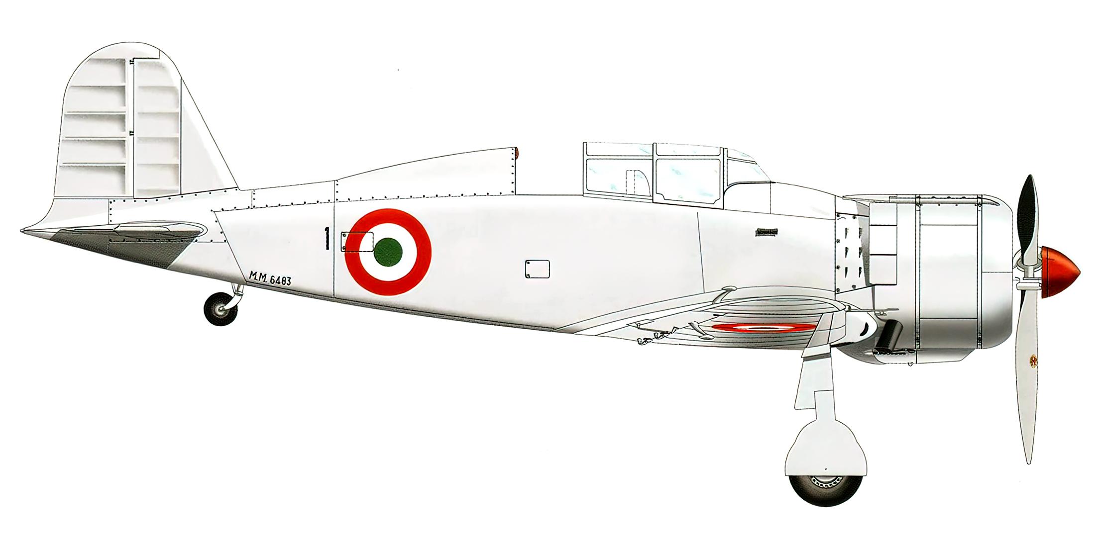 Fiat G50B Freccia ANR 2 Gruppo Scuola Volo 3 Squadriglia MM6843 Brindisi 1946 0A
