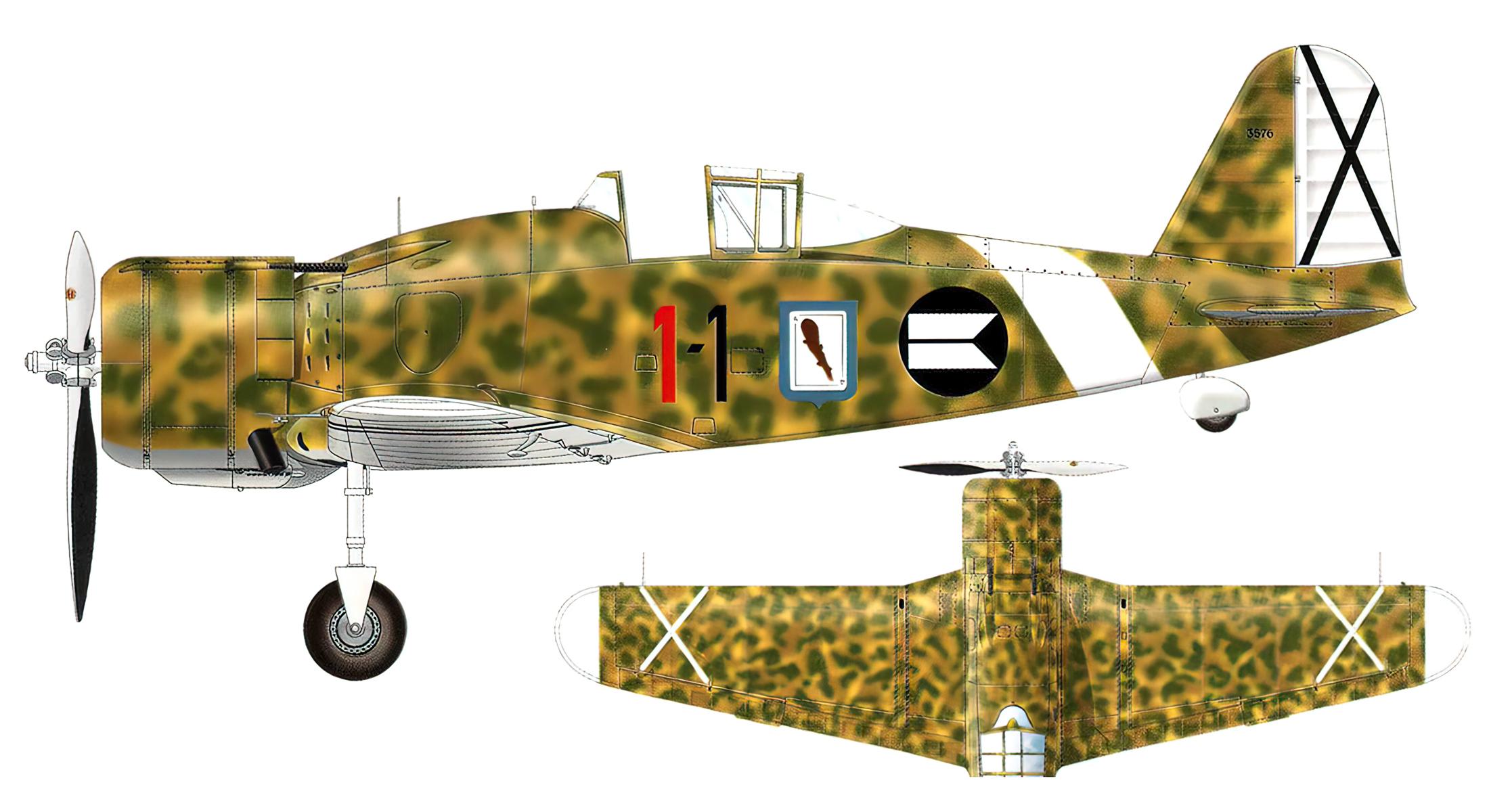 Fiat G50 Aviazione Legionaria 13 Gruppo Caccia 1 MM3576 Mario Bonzano Esciona Spain May 1939 0A