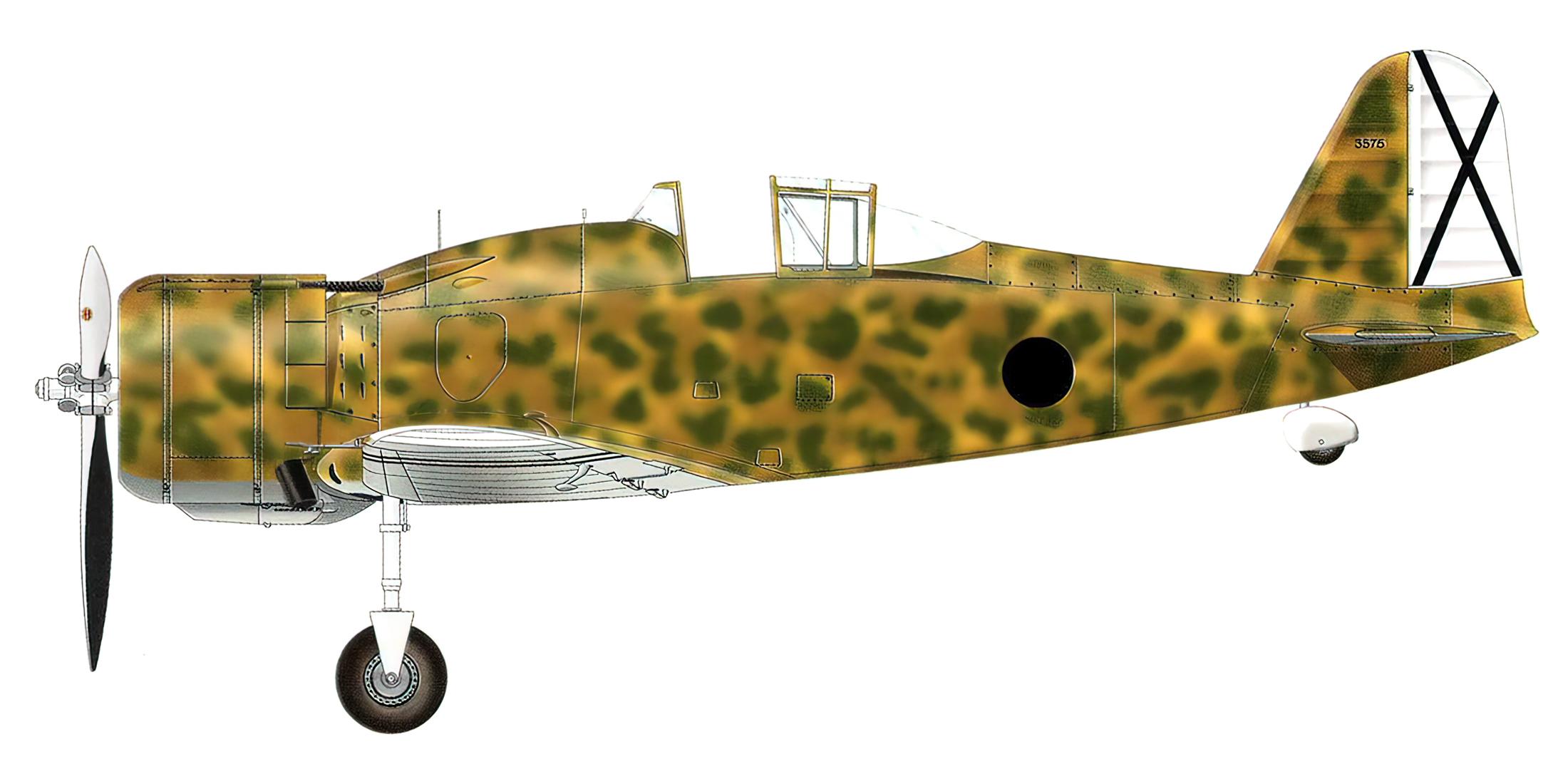 Fiat G50 Aviazione Legionaria 13 Gruppo Caccia MM3575 Enzo Martizza Reus Spain Mar 1939 0A