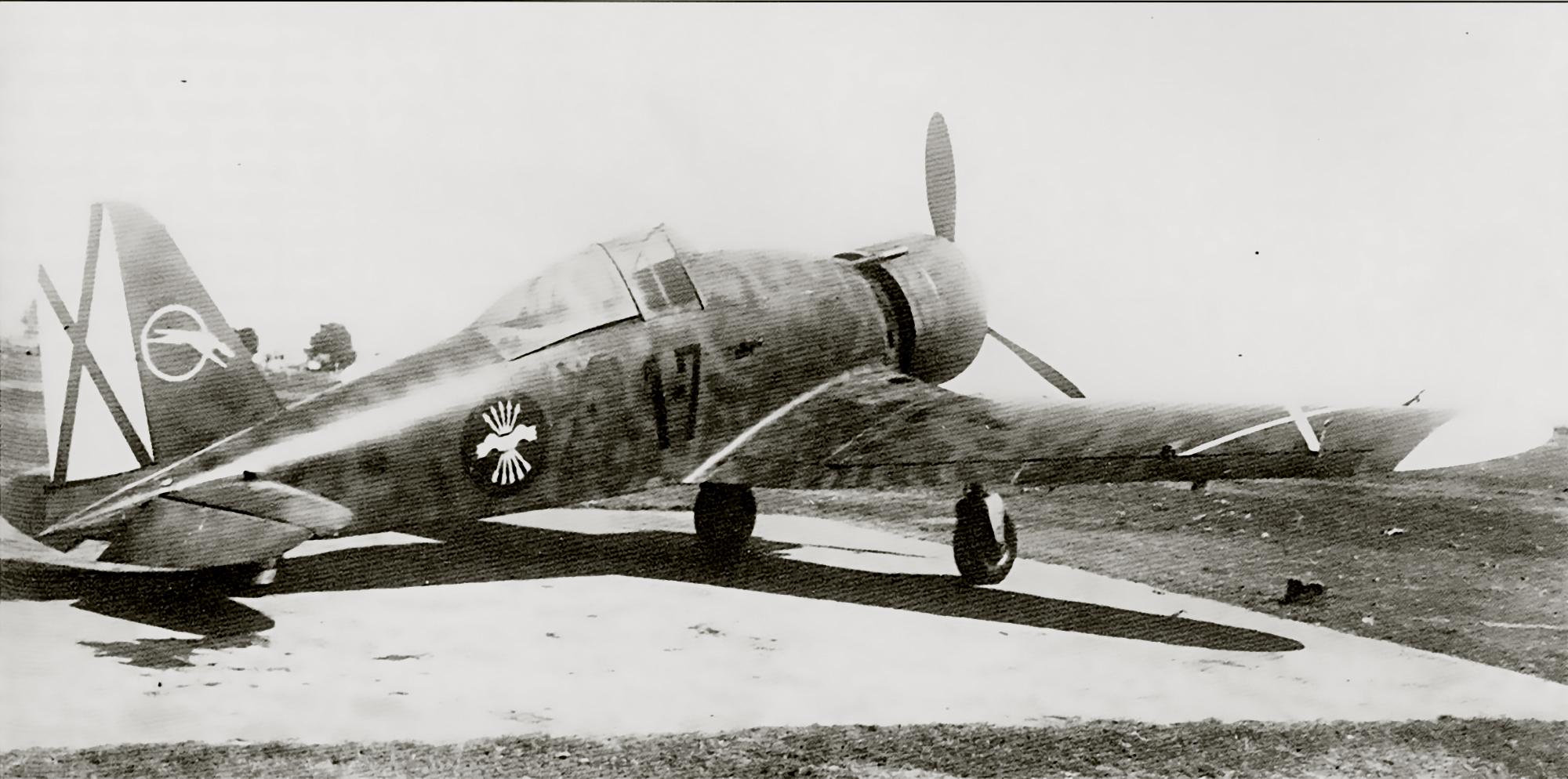 Fiat G50 Freccia Aviacion Nacional 27 Gruppo de Caza 7 MM3582 Sevilla Tablada Spain Jun 1939 02