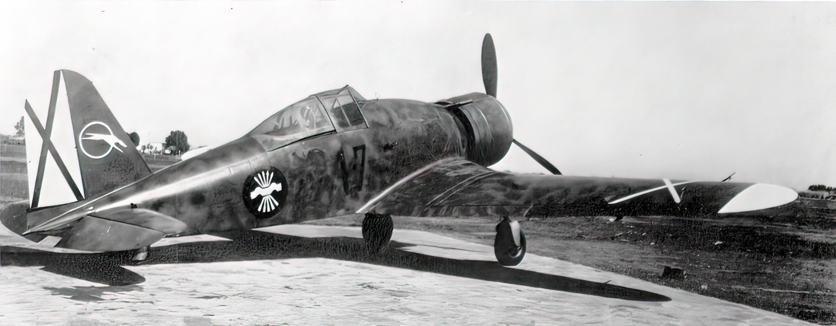 Fiat G50 Freccia Aviacion Nacional 27 Gruppo de Caza 7 MM3582 Sevilla Tablada Spain Jun 1939 03