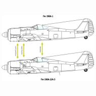 Asisbiz Art technical drawing Focke Wulf Fw 190 Variants 03