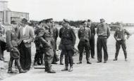 Asisbiz Aircrew Luftwaffe pilot Ekdo 25 Horst Geyer and Adolf Galland Parchim 1944 01