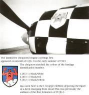 Asisbiz Artwork showing the emblem of 1.JG1 Chequers 0A