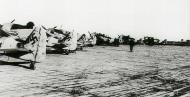 Asisbiz Focke Wulf Fw 190A 3.JG11 line up Geschwader yellow Reich band Husum 1944 01