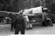 Asisbiz Focke Wulf Fw 190A7 II.JG26 being manoeuvred under trees Boissy le Bois France June 1944 01