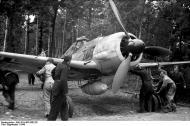Asisbiz Focke Wulf Fw 190A7 II.JG26 being manoeuvred under trees Boissy le Bois France June 1944 02