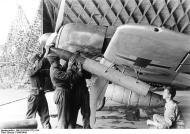 Asisbiz Focke Wulf Fw 190A8 II.JG26 aircraft being loaded with 21cm mortar France 1943 01