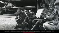 Asisbiz Luftwaffe 6.JG26 pilots rest on their deck chairs before being scrambled Abbeville France July 1942 0A