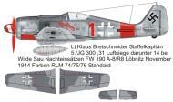 Asisbiz Focke Wulf Fw 190A8 5.JG300 Red 1 Klaus Bretschneider M499 Germany 1944 0B