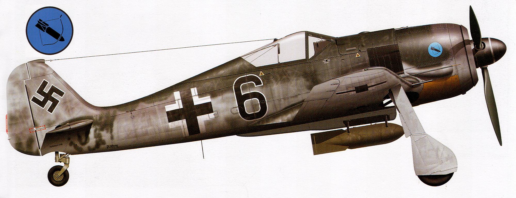 Focke Wulf Fw 190A 14.JG5 Black 6 Petsamo Finland 1943 0A