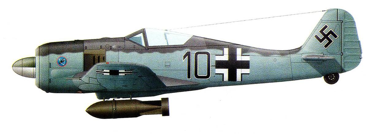 Focke Wulf Fw 190A3 14.JG5 Black 10 Petsamo Finland 1943 0A