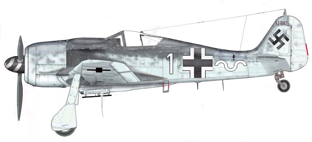 Focke Wulf Fw 190F8 9.JG5 (W1+o) Heinz Orlowski Norway 1944 Profile 01