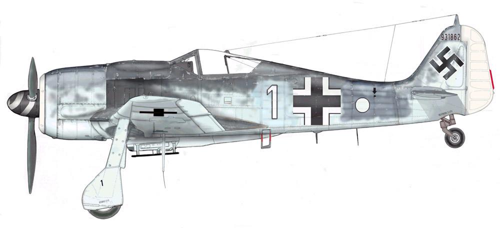 Focke Wulf Fw 190F8 9.JG5 (W1+o) Heinz Orlowski Norway 1944 Profile 02