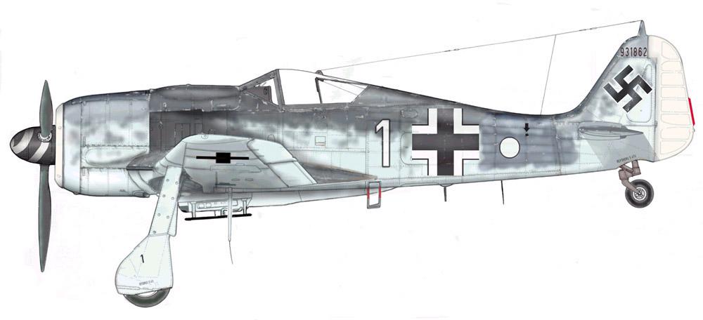 Focke Wulf Fw 190F8 9.JG5 (W1+o) Heinz Orlowski Norway 1944 Profile 03