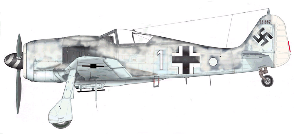 Focke Wulf Fw 190F8 9.JG5 (W1+o) Heinz Orlowski Norway 1944 Profile 04