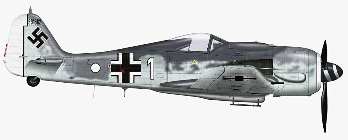 Focke Wulf Fw 190F8 9.JG5 (W1+o) Heinz Orlowski Norway 1944 Profile 05
