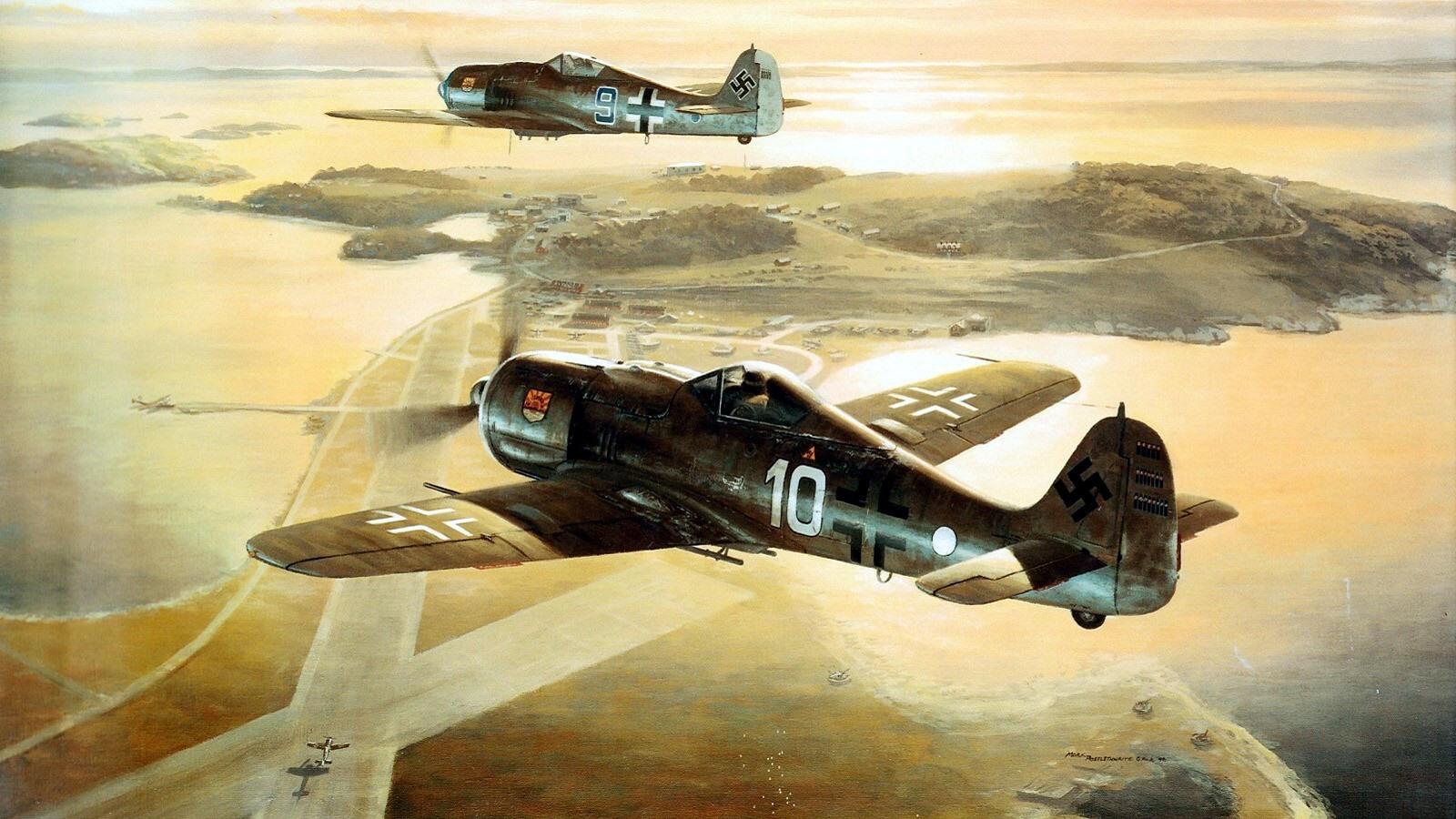 Focke Wulf Fw 190F8 9.JG5 (W10+o) painting 0A