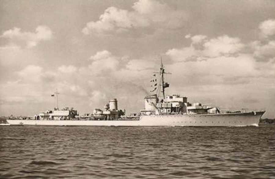 German Navy Kriegsmarine Narvik class destroyer KMS Z 28 01