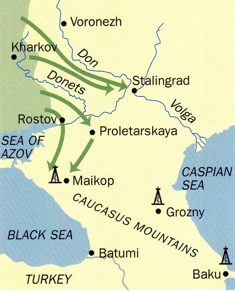 Asisbiz Artwork showing the map of Stalingrad April 1942-0A
