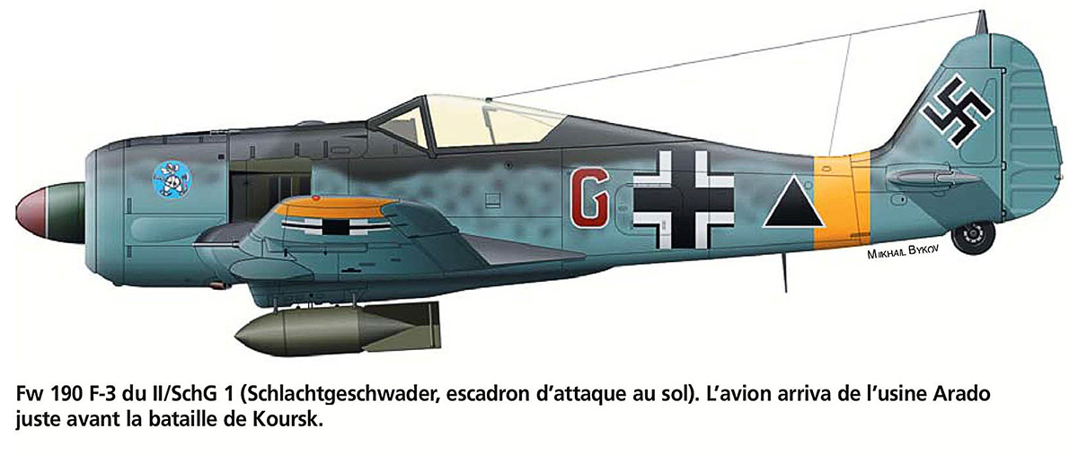 Focke Wulf Fw 190F3 II.SG1 Red G Battle of Kursk July 1943 0A