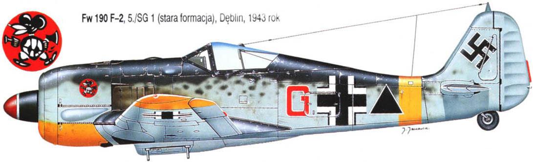 Focke Wulf Fw 190G2 SG1 Red G Deblin Irena Poland 1943 0A