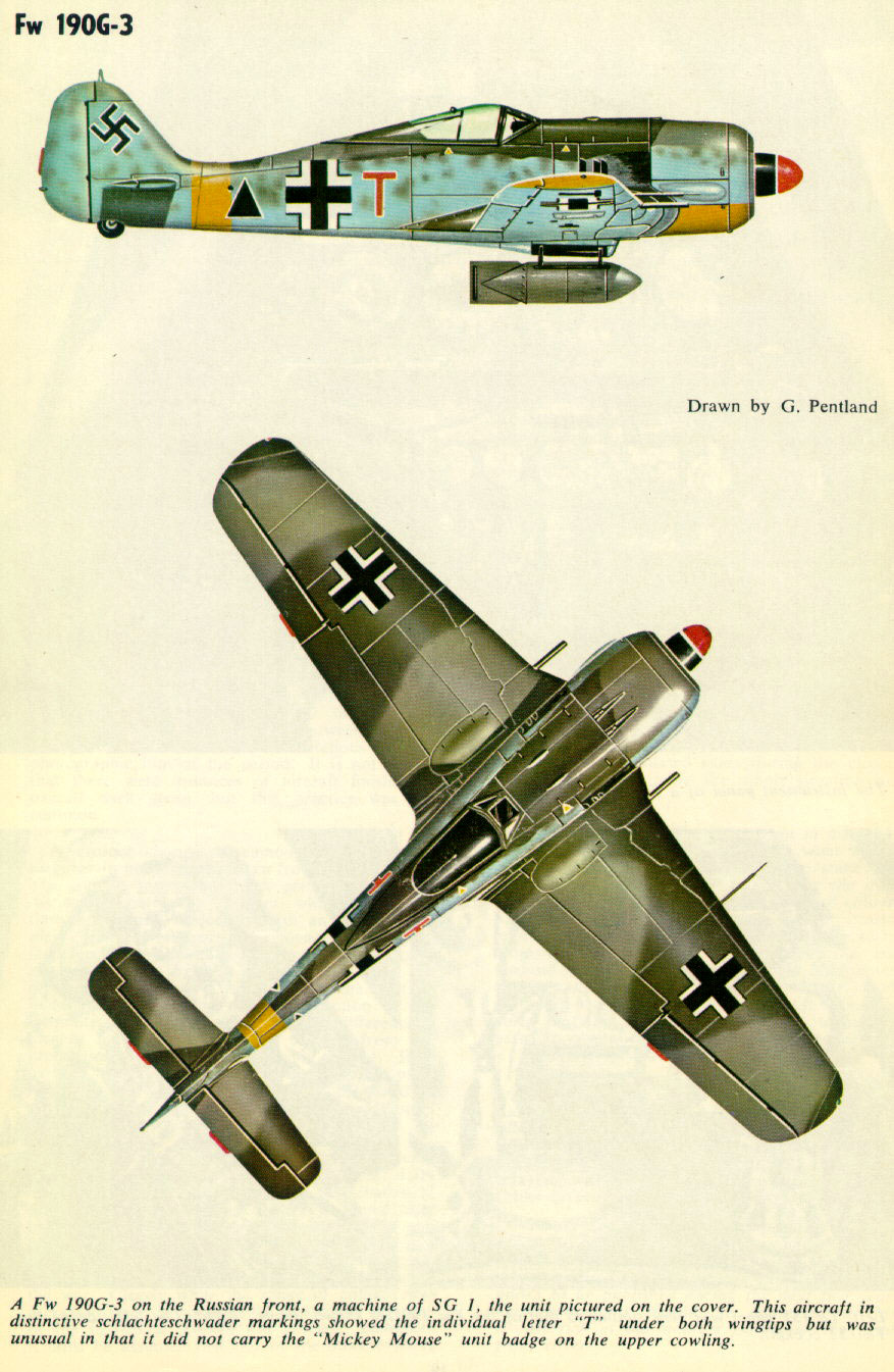 Focke Wulf Fw 190G2 SG1 Red T Deblin Irena Poland 1943 0A